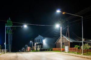 moderné verejné osvetlenie mesa obce Babín