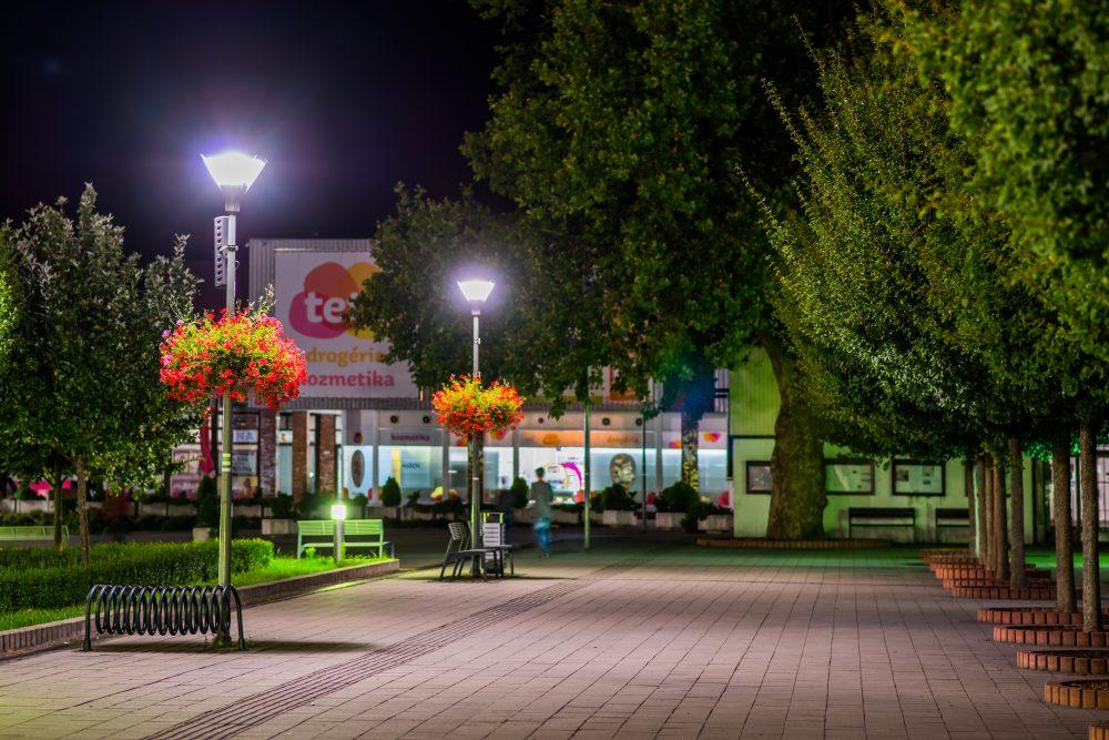moderné verejné osvetlenie mesa obce Bánovce nad Bebravou