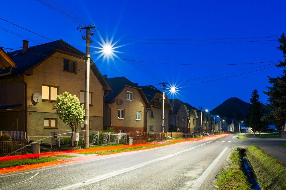 moderné verejné osvetlenie mesa obce Dlhá nad Oravou